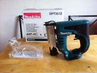 new makita 18v 2nd fix nailer dpt351. Made in Japan dpt351z. 23 Ga, 18-35mm nails. Bare Tool