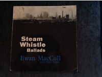 STEAM WHISTLE BALLADS - EWAN MacCOLL WITH PEGGY SEEGER - 1964 UK 1ST PRESS TOPIC