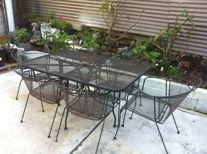Iron outdoor dining table and 6 chairs Botany Botany Bay Area Preview