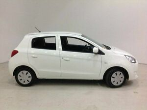 2014 Mitsubishi Mirage LA MY15 ES White 1 Speed Constant Variable Hatchback Edgewater Joondalup Area Preview
