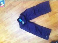 girls purple mountain warehouse waterproof trousers age 5-6