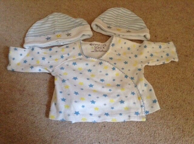 Emma Jack Baby Top & Two Matching Hats - Up to one month