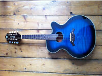Crafter Electro-Acoustic Mandolin M70-E - electric blue
