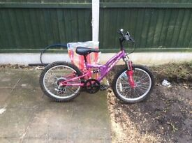 Girls purple/pink bike