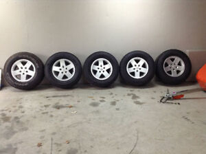 Jeep Wrangler winter tires and rims
