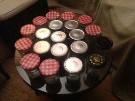 20 No 'Bonne Maman' 325gm jam jars with screw lids