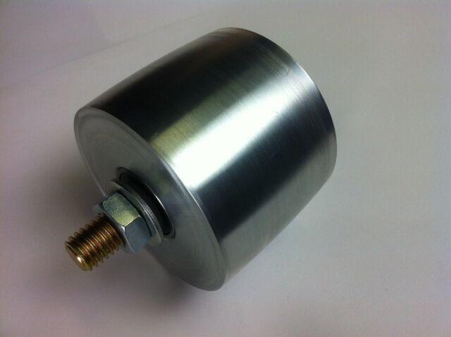 """Belt Grinder Tracking Wheel for 2x72"""" knife making grinder with bolt axle"""