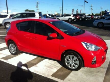 2012 Toyota Prius c NHP10R E-CVT Red 1 Speed Constant Variable Hatchback Gladstone Gladstone City Preview