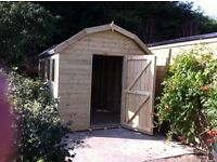New Garden Shed, Heavy Duty Wooden Dutch Barn, size 7ft x 5ft from just £658.00