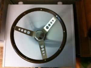 Woodgrain 3 Spoke Steering Wheel - With GM Hub
