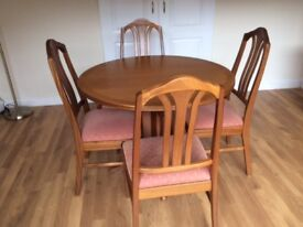 Nathan Dining Room Leafed Table and 4 x Chairs - Great Condition