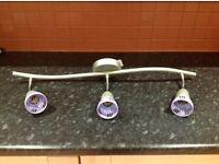 2 Arm purple light fitting - good condition