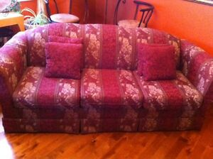 COUCH, LOVE SEAT & WING CHAIR SET