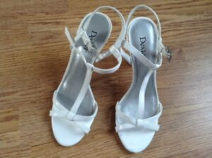 Brand New w/o Tags White strappy heels