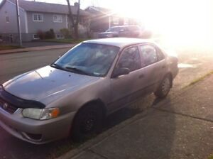 2001 Toyota Corolla FOR PARTS ONLY lots of new parts $200 FIRM