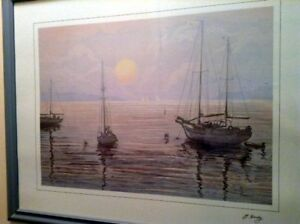 G. Hardy Sailboat Painting