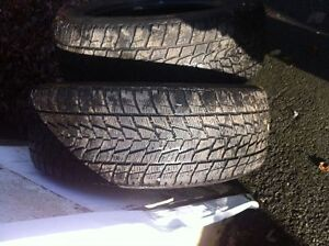 Two 255/60/19 Winter tires