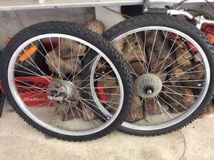 """Ensemblre roues avant & arriere 26"""" Front & rear wheel set"""