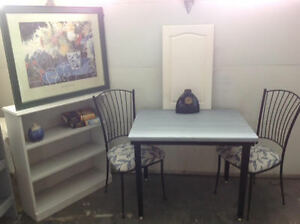 Dinette and bookcase