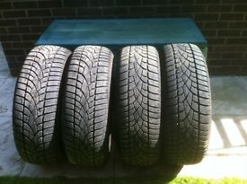2 sets of winter tyres, Nokian Wrd3 and Dunlop SP winter sport