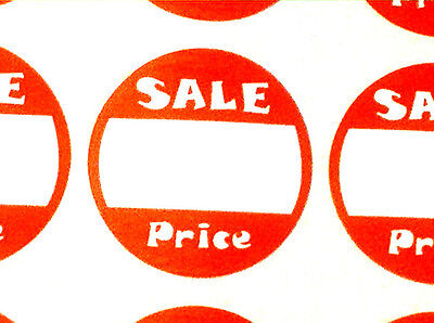 Bulk Deal 1000 Round Retail Store Sale Price Stickers 2 Boxes Of 500 Labels