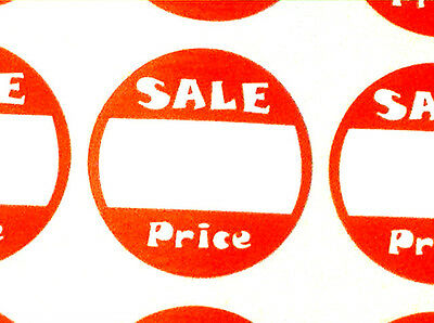 BULK DEAL!! 1000 ROUND RETAIL STORE SALE PRICE STICKERS ⭐2 BOXES OF 500!⭐ (Round 2 Store)