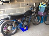Harley Davidson SS250 cafe racer barn find winter project