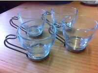 Glass espresso mugs