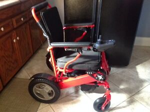 Red electric wheelchair that folds for transportation Kitchener / Waterloo Kitchener Area image 2