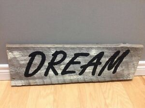 """Barn Board """"Dream"""" Sign Kitchener / Waterloo Kitchener Area image 1"""