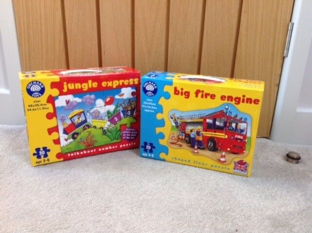 2 x Orchard Puzzles - Jungle Express & Big Fire Engine