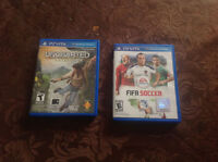 Uncharted Golden Abyss and Fifa 12 for the PlayStation Vita