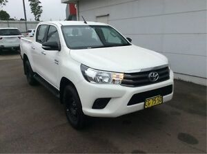 2016 Toyota Hilux GUN126R SR Double Cab White 6 Speed Sports Automatic Utility Cardiff Lake Macquarie Area Preview