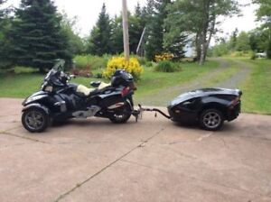 Can am spyder rt 2010 with trailer