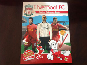 Brand new The offical Liverpool FC sticker colouring book