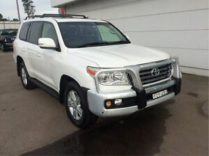 2012 Toyota Landcruiser VDJ200R MY10 VX White 6 Speed Sports Automatic Wagon Cardiff Lake Macquarie Area Preview