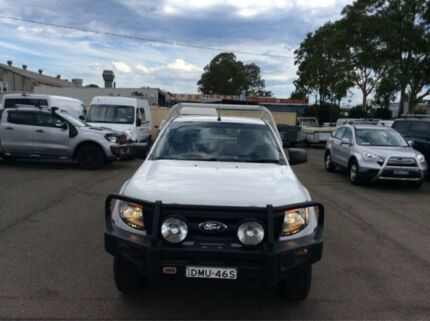 2012 Ford Ranger PX XL Cab Chassis Single Cab 2dr Spts Auto 6sp, 4x4 1387kg 3 White Sports Automatic