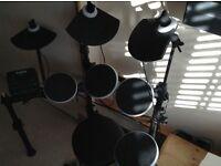Alesis DM Lite Kite 5 piece electronic drum set and drum stool