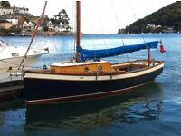 Gaff rig sailing boat for sale