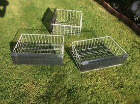 Three freezer baskets