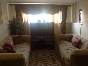 Italian Sofas, Chairs, Curtains & Rod, moving sale