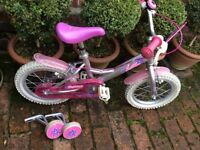 Dawes Lottie 14 inch; girls bike with stabilisers, age 3 - 5 RRP £139.99 EXCELLENT CONDITION