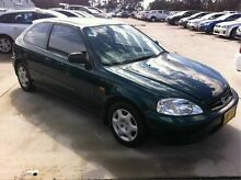 1999 Honda Civic EK CXi Green 5 Speed Manual Hatchback Maryville Newcastle Area Preview