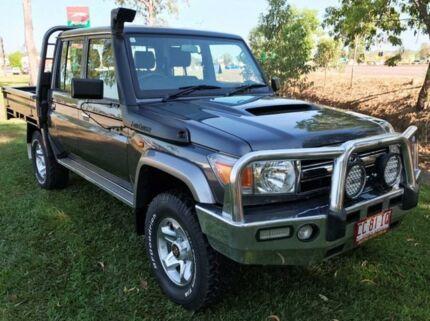 2012 Toyota Landcruiser VDJ79R MY13 GXL Double Cab Grey 5 Speed Manual Cab Chassis