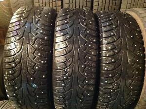 3 pneus d'hiver 225/60 r16 ?? clous nokian hakkapeliitta 5.  100$