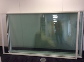 8X4 SHEETS OF TOUGHENED CLEAR GLASS