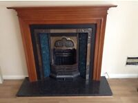 Fireplace, mantel and hearth