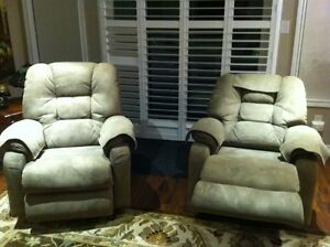 Set of two matching La-Z-Boy glider, swivel, recliners, recliner