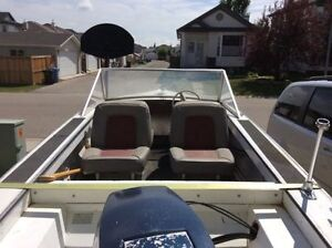 14 foot aluminum boat trailer and 55 hp outboard