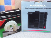 Hanimex Automatic slide projector with Rondex 120 slide Magazine and Screen